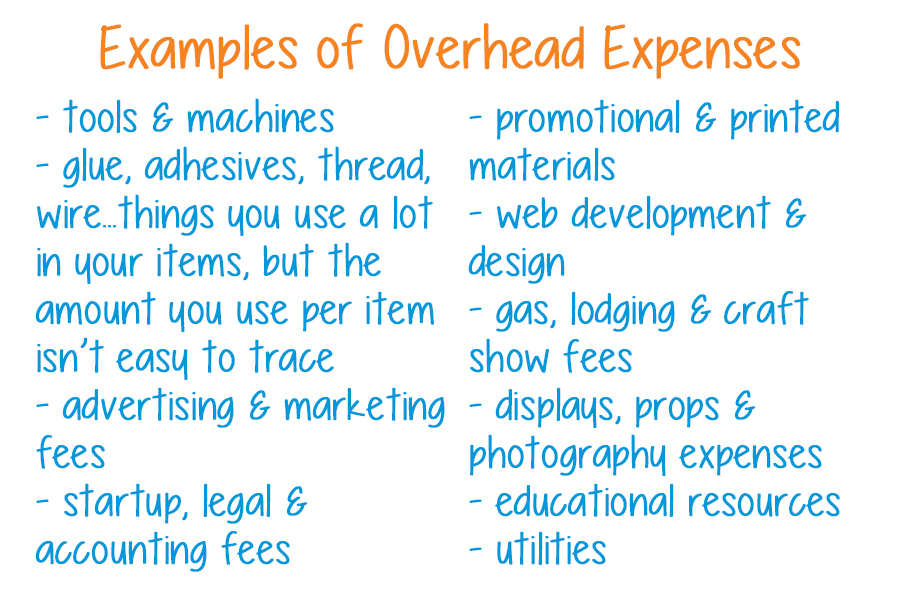 examples of overhead expenses
