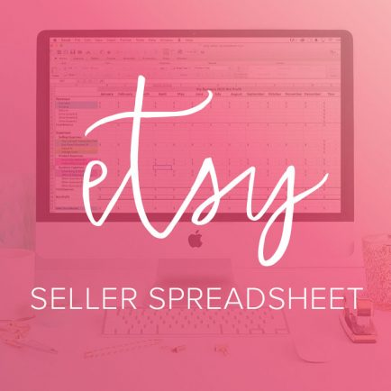etsy seller spreadsheet by Paper + Spark