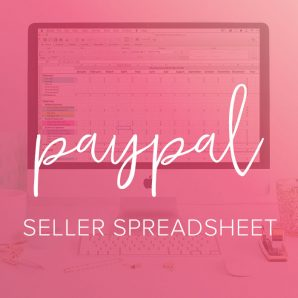 PayPal bookkeeping spreadsheet from Paper and Spark