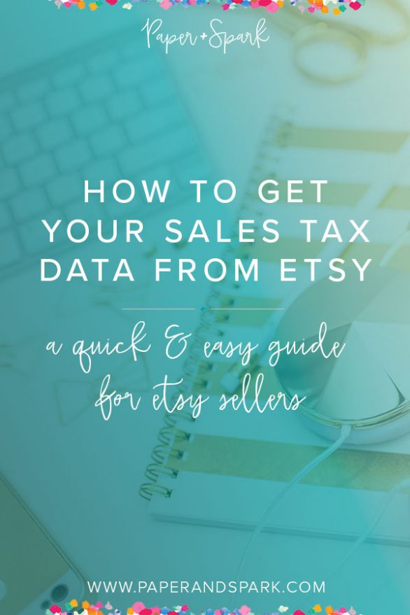 how to get sales tax data from etsy
