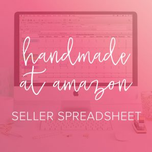 Amazon handmade spreadsheet from paper + spark
