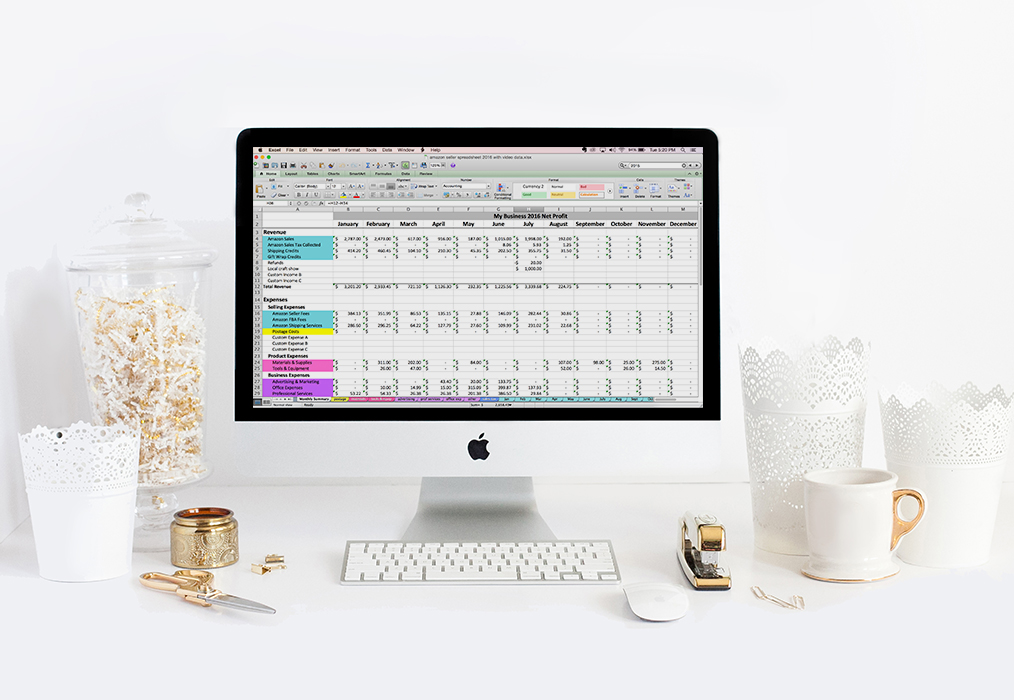 bookkeeping spreadsheets for online sellers