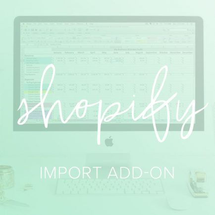 shopify import add on spreadsheet