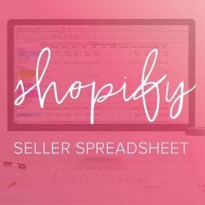 shopify seller spreadsheet from paper + spark
