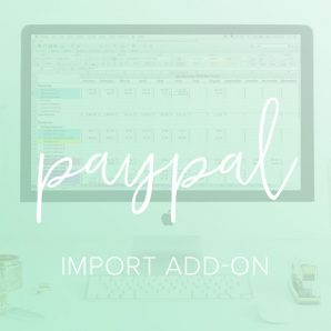 PayPal import add on spreadsheet from paper + spark