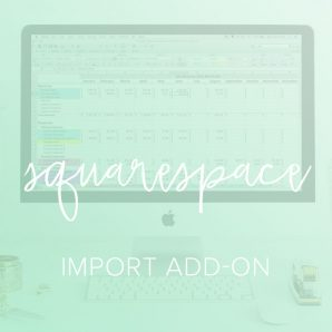 squarespace import add on spreadsheet from paper and spark