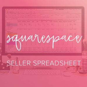 squarespace seller spreadsheet from paper + spark