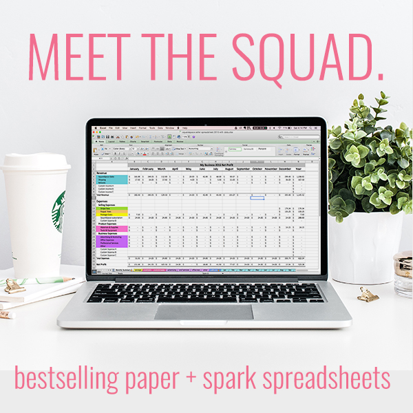 paper + spark spreadsheets