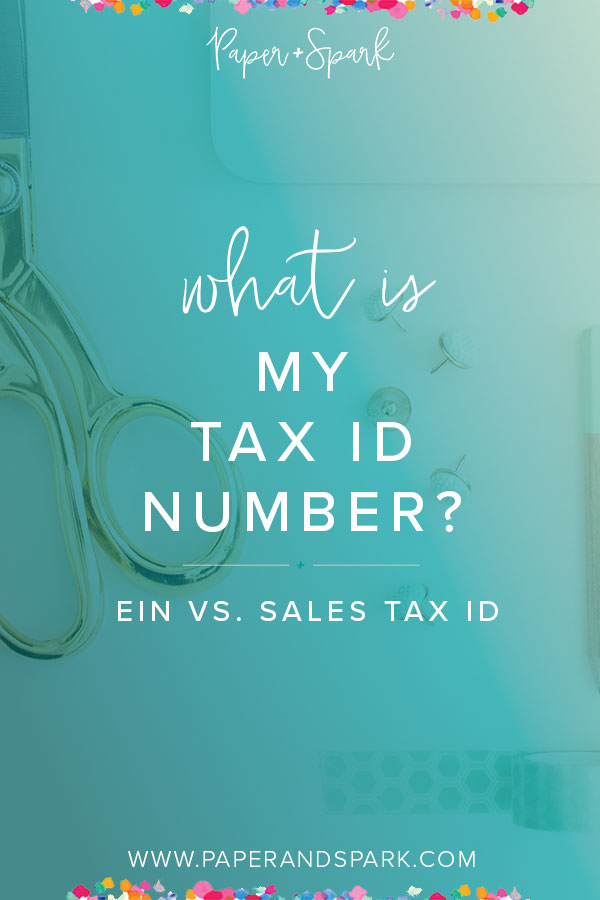 What is your tax ID number?