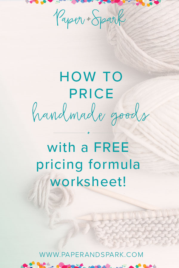 how to price handmade goods - using a flexible pricing formula for etsy sellers