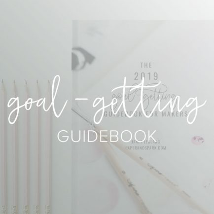 goal getting guidebook by paper + spark